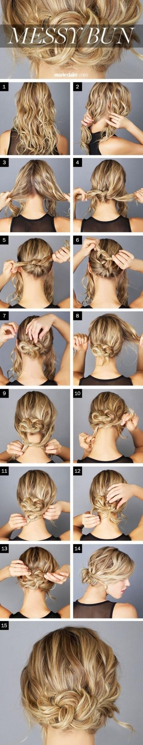 Hướng dẫn cách làm những kiểu tóc búi giản dị cực dễ thương chống nóng hè hiệu quả phần 5