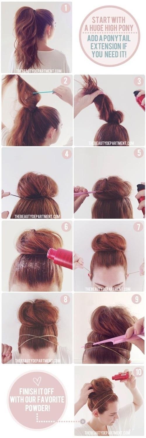 Hướng dẫn cách làm những kiểu tóc búi giản dị cực dễ thương chống nóng hè hiệu quả phần 6