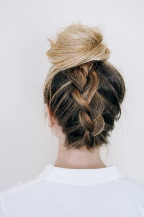 Hướng dẫn cách làm những kiểu tóc búi giản dị cực dễ thương chống nóng hè hiệu quả phần 7
