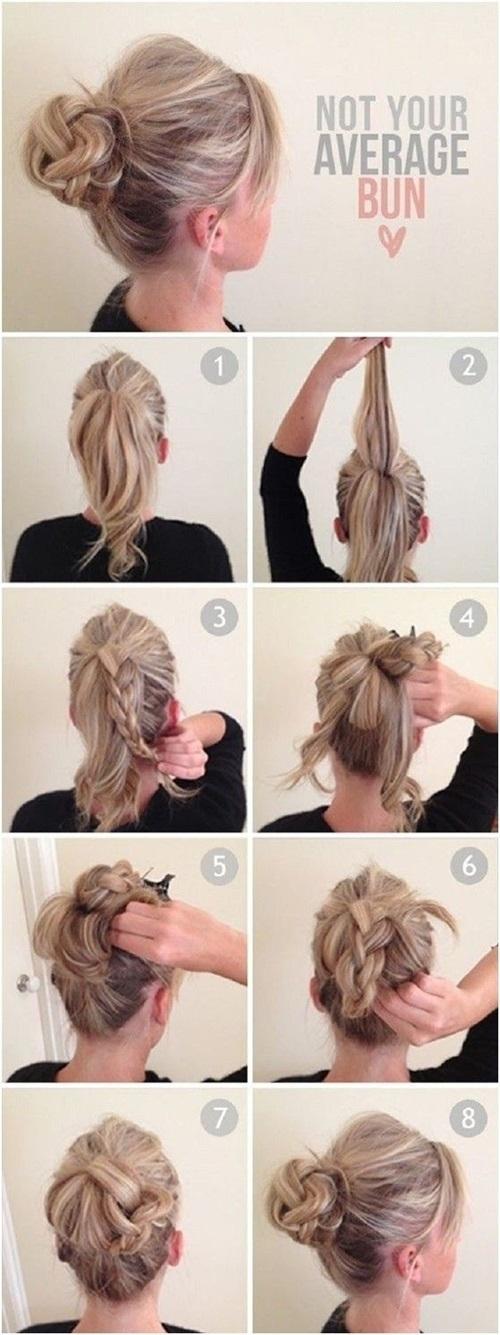 Hướng dẫn cách làm những kiểu tóc búi giản dị cực dễ thương chống nóng hè hiệu quả phần 8