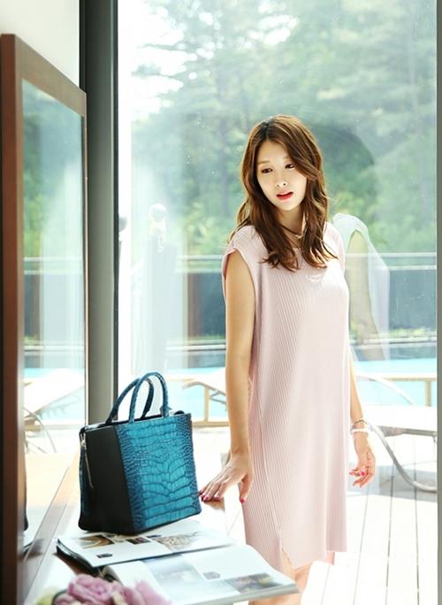 Váy liền thân Hàn Quốc đẹp duyên dáng theo phong cách công sở hè 2017 phần 10