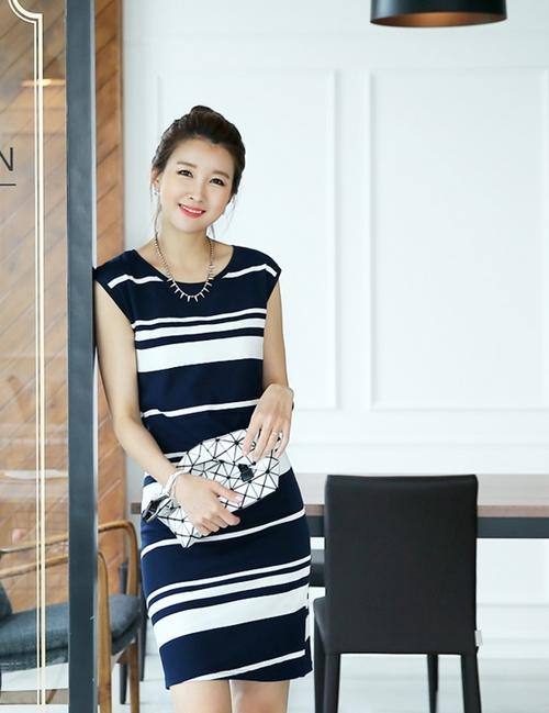 Váy liền thân Hàn Quốc đẹp duyên dáng theo phong cách công sở hè 2017 phần 2