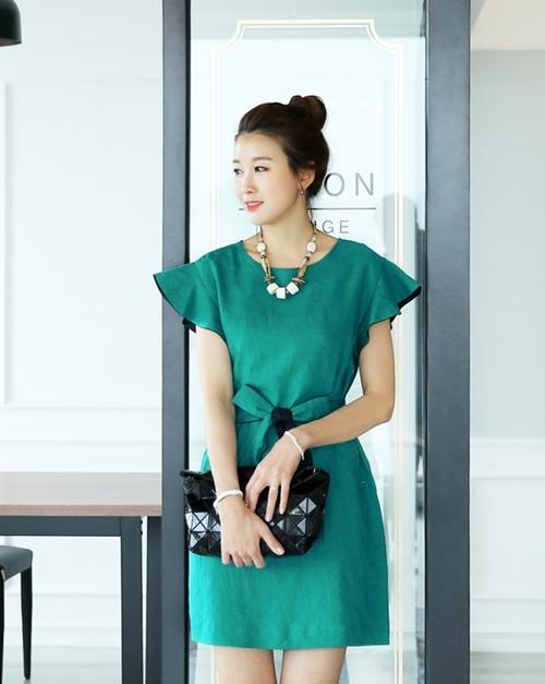 Váy liền thân Hàn Quốc đẹp duyên dáng theo phong cách công sở hè 2017 phần 3