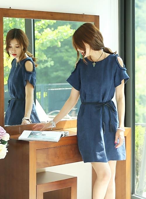 Váy liền thân Hàn Quốc đẹp duyên dáng theo phong cách công sở hè 2017 phần 6