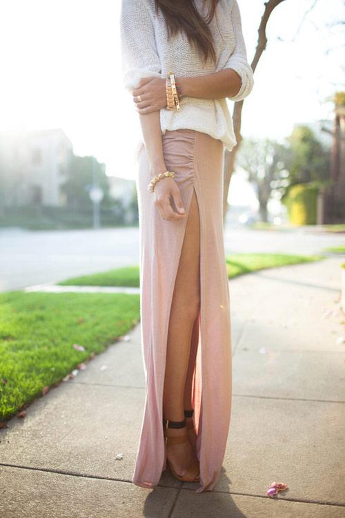 Đầm maxi xẻ đùi đẹp cho nàng chân dài khoe dáng gợi cảm ngày hè 2017 phần 1