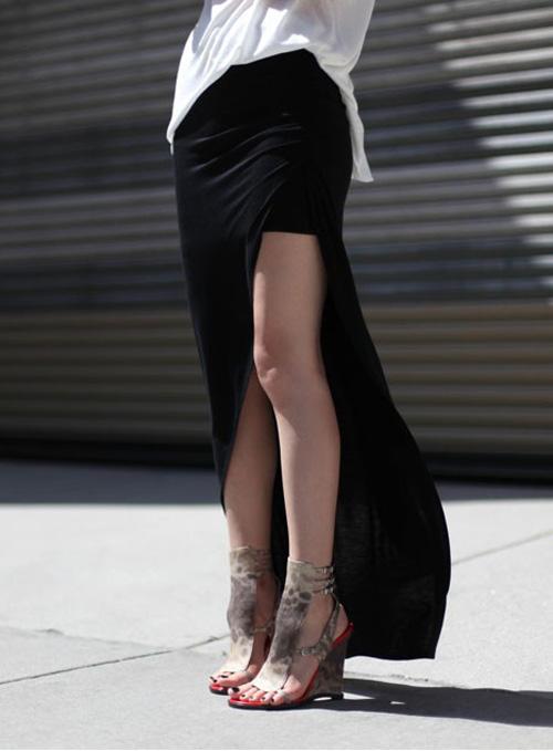 Đầm maxi xẻ đùi đẹp cho nàng chân dài khoe dáng gợi cảm ngày hè 2017 phần 14