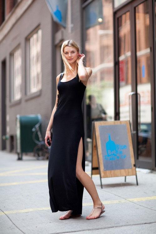Đầm maxi xẻ đùi đẹp cho nàng chân dài khoe dáng gợi cảm ngày hè 2017 phần 17