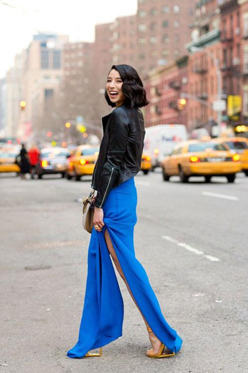 Đầm maxi xẻ đùi đẹp cho nàng chân dài khoe dáng gợi cảm ngày hè 2017 phần 18