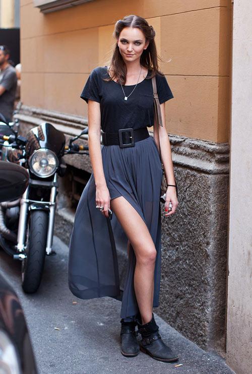 Đầm maxi xẻ đùi đẹp cho nàng chân dài khoe dáng gợi cảm ngày hè 2017 phần 2