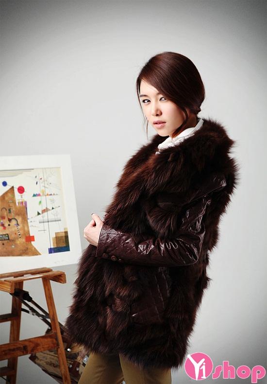 áo Khoác Lông Nữ đẹp Kiểu Hàn Quốc Sang Trọng Quý Phái đông 2016 2017