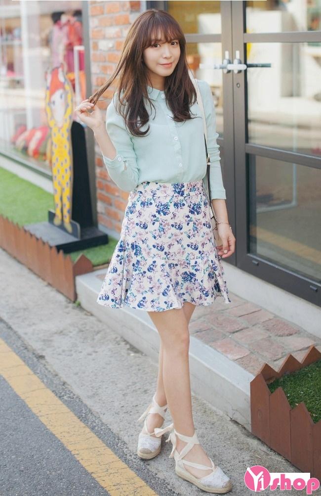 Chân váy loe đẹp cho nàng vòng 3 to quyến rũ dạo phố hè 2017 phần 1
