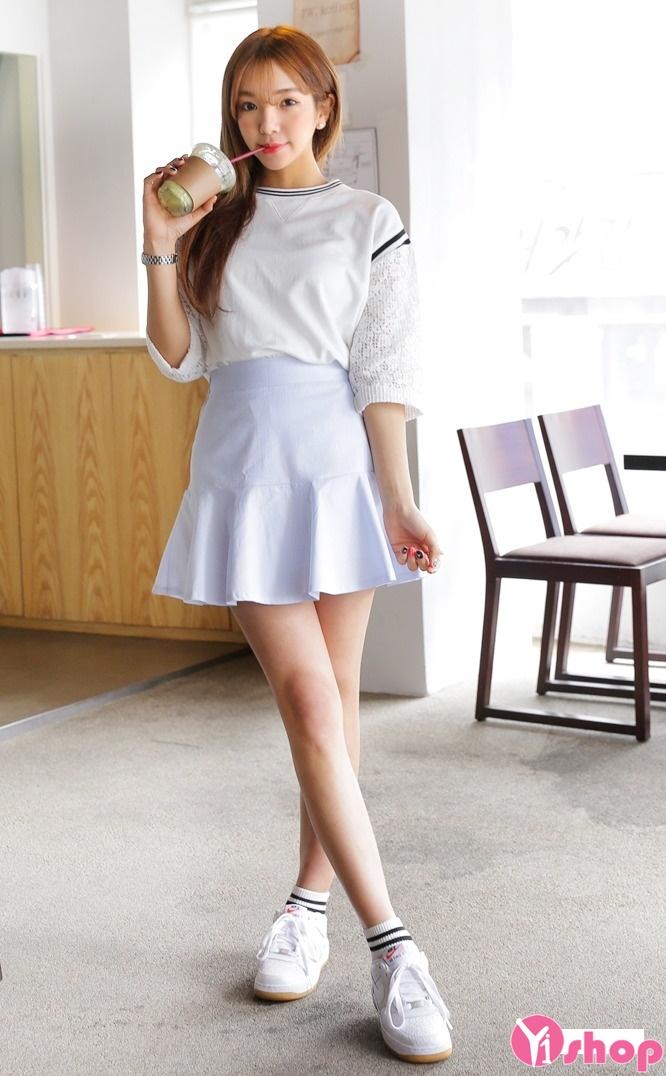 Chân váy loe đẹp cho nàng vòng 3 to quyến rũ dạo phố hè 2017 phần 12
