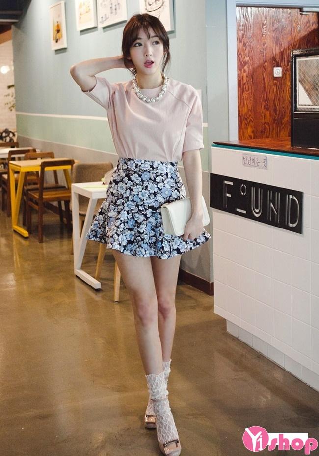 Chân váy loe đẹp cho nàng vòng 3 to quyến rũ dạo phố hè 2017 phần 14