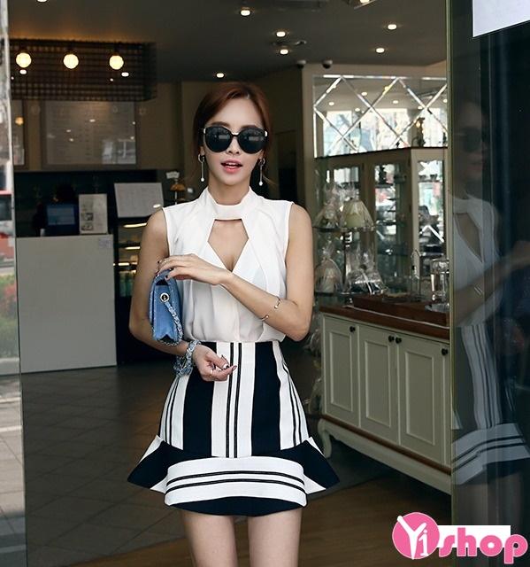 Chân váy loe đẹp cho nàng vòng 3 to quyến rũ dạo phố hè 2017 phần 4