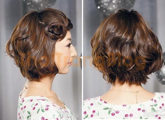 Kiểu tóc ngắn uốn đuôi hàn quốc đẹp 2016 cho nàng mặt tròn cá tính phần 12