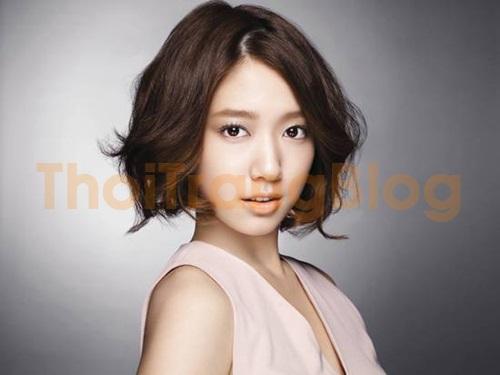 Kiểu tóc ngắn uốn đuôi hàn quốc đẹp 2016 cho nàng mặt tròn cá tính phần 5