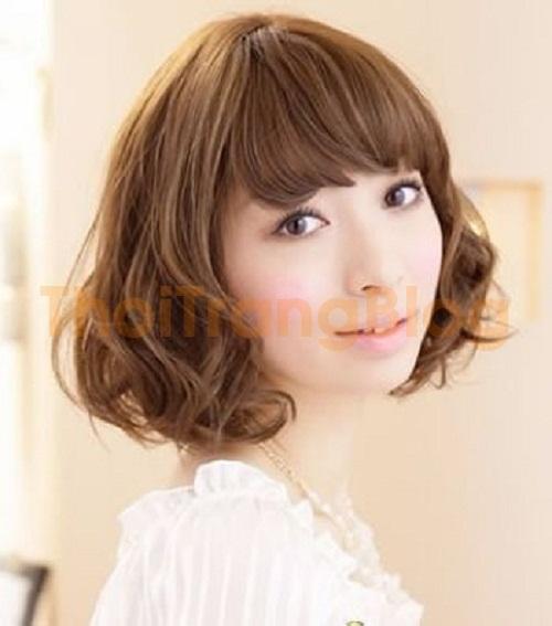 Kiểu tóc ngắn uốn đuôi hàn quốc đẹp 2016 cho nàng mặt tròn cá tính phần 7