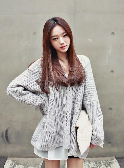 Màu tóc nhuộm nâu hạt dẻ dịu đẹp 2017 sao kpop Hàn Quốc phần 8