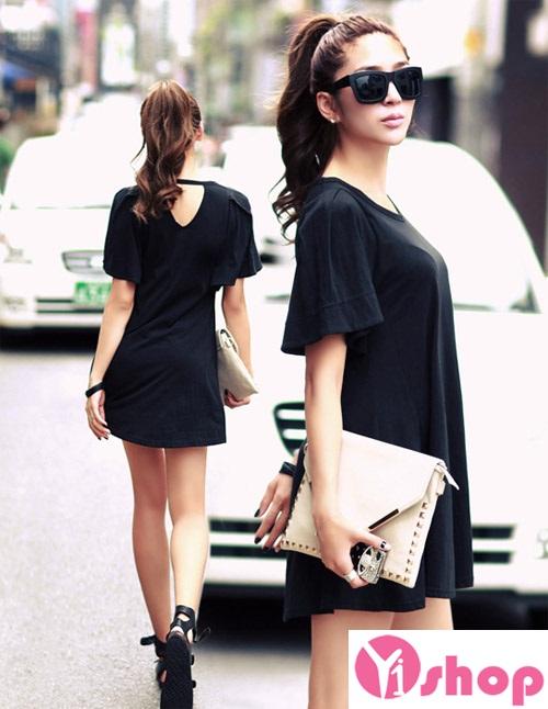 Váy liền thân màu đen đẹp sang trọng cùng nàng tới công sở ngày đầu hè 2017 phần 15