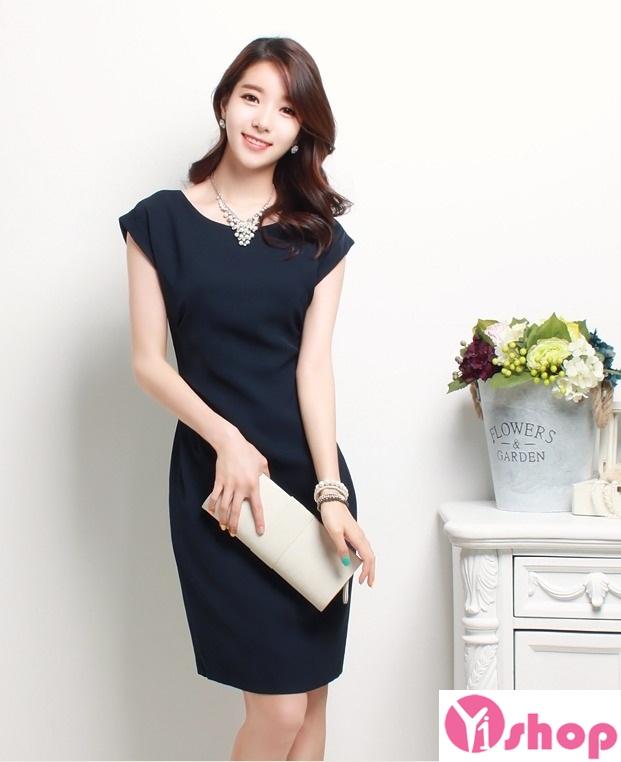 Váy liền thân màu đen đẹp sang trọng cùng nàng tới công sở ngày đầu hè 2017 phần 2