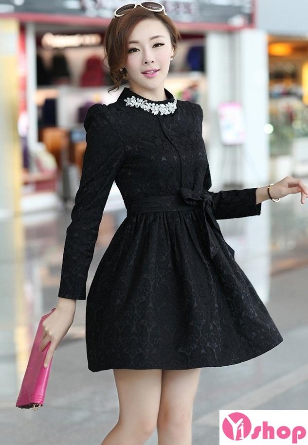 Váy liền thân màu đen đẹp sang trọng cùng nàng tới công sở ngày đầu hè 2017 phần 9