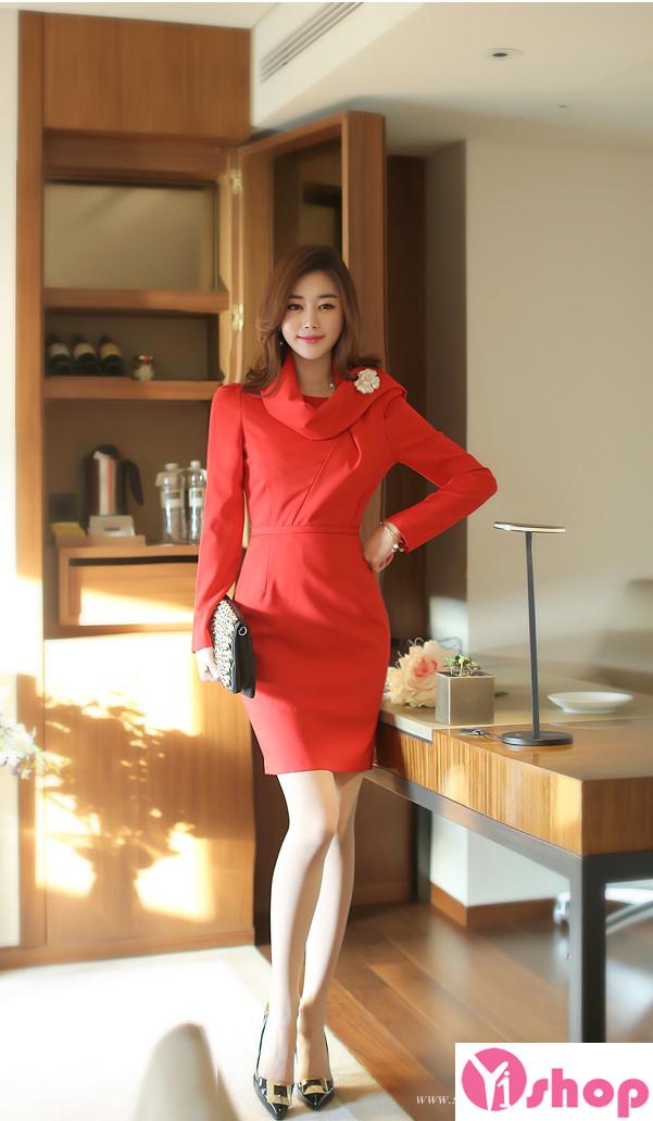 Váy liền thân màu đỏ đẹp nổi bật hè 2017 tỏa sáng chinh phục mọi ánh nhìn phần 1