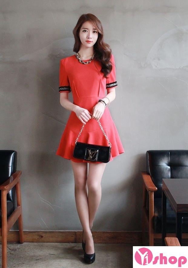 Váy liền thân màu đỏ đẹp nổi bật hè 2017 tỏa sáng chinh phục mọi ánh nhìn phần 11