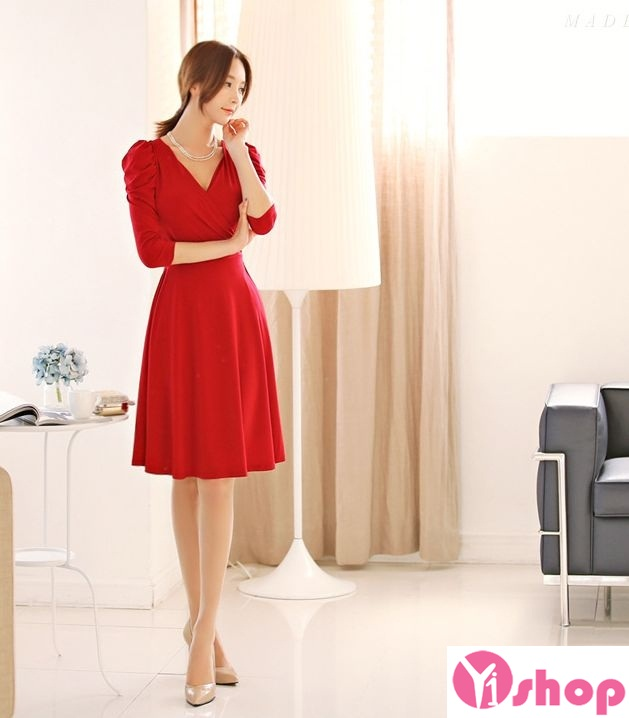Váy liền thân màu đỏ đẹp nổi bật hè 2017 tỏa sáng chinh phục mọi ánh nhìn phần 2