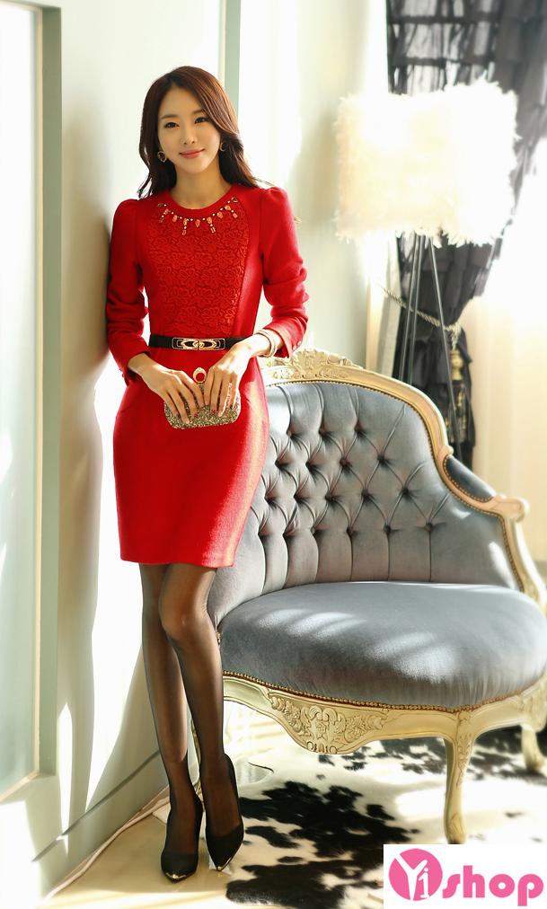 Váy liền thân màu đỏ đẹp nổi bật hè 2017 tỏa sáng chinh phục mọi ánh nhìn phần 4