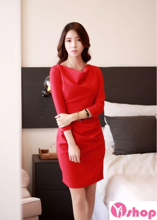 Váy liền thân màu đỏ đẹp nổi bật hè 2017 tỏa sáng chinh phục mọi ánh nhìn phần 9