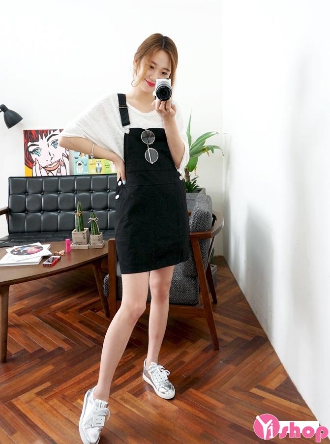 Váy yếm hàn quốc đẹp hè 2017 cho nàng dễ thương xinh xắn phần 11