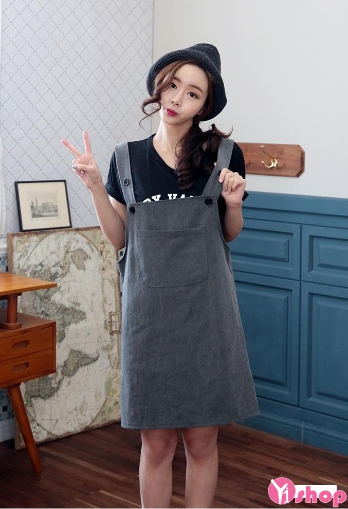 Váy yếm hàn quốc đẹp hè 2017 cho nàng dễ thương xinh xắn phần 12
