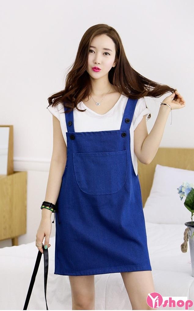 Váy yếm Denim Hàn Quốc - Thời Trang Hàn Quốc Lee Style