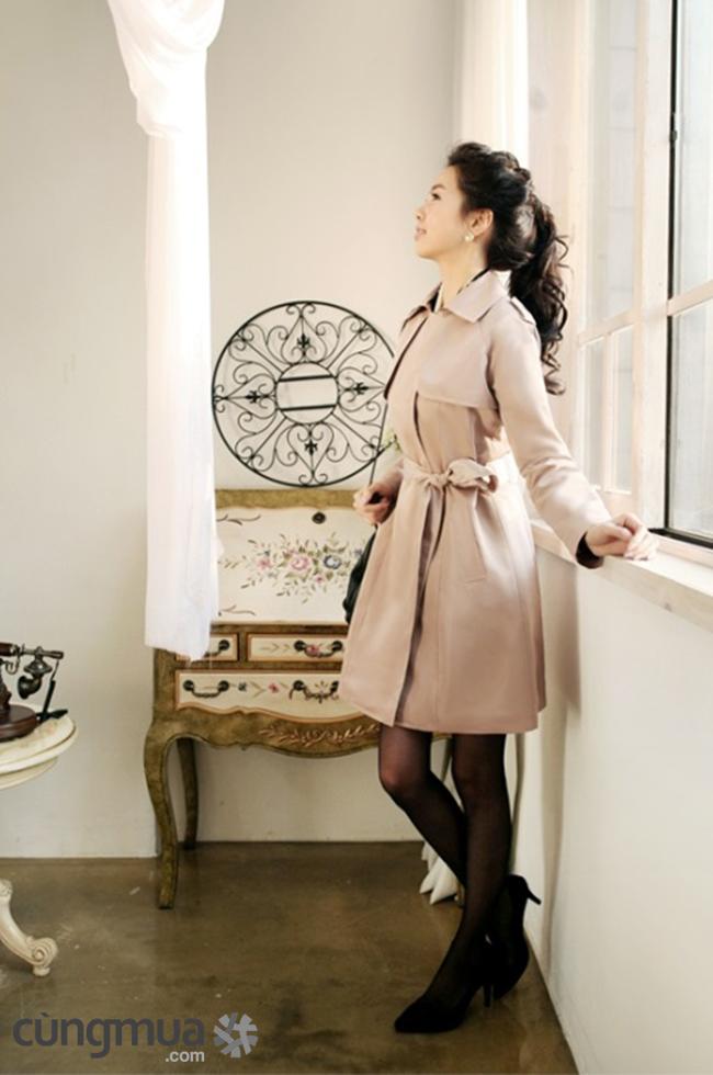 Áo khoác măng tô nữ dáng dài đẹp công sở không lạnh đông 2016 - 2017 phần 8
