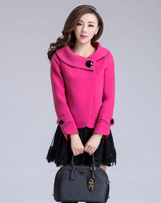 Áo khoác nữ màu hồng đẹp cho nàng công sở trang nhã thu đông 2016 - 2017 phần 6
