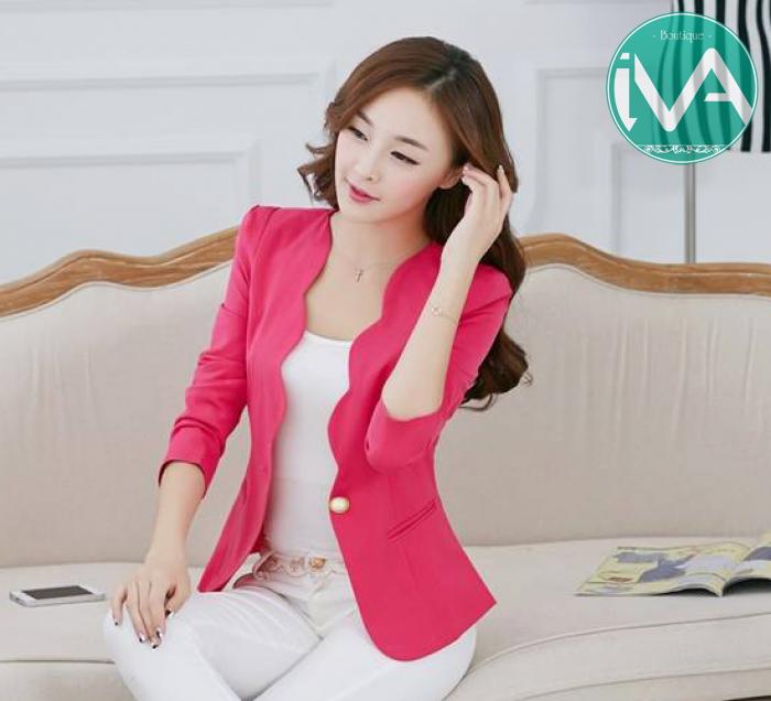 Áo khoác nữ màu hồng đẹp cho nàng công sở trang nhã thu đông 2016 - 2017 phần 7