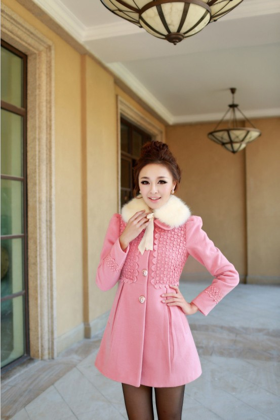 Áo khoác nữ màu hồng đẹp cho nàng công sở trang nhã thu đông 2016 - 2017 phần 9
