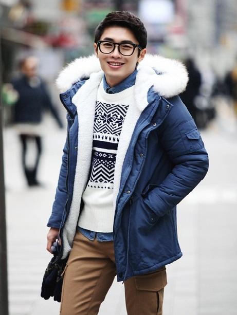 Kiểu áo khoác nam đang gây sốt phong cách hàn quốc đẹp đông 2016 - 2017 ấm áp phần 9