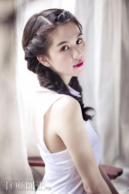 Những kiểu tóc tết đẹp đơn giản của Ngọc Trinh 2016 dễ thương phần 3