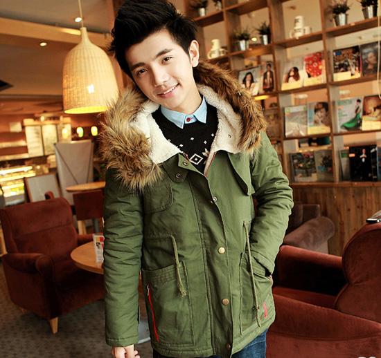 áo Khoác Nam Cổ Lông đẹp Hàn Quốc Thu đông 2015 2016 đẳng Cấp Sang