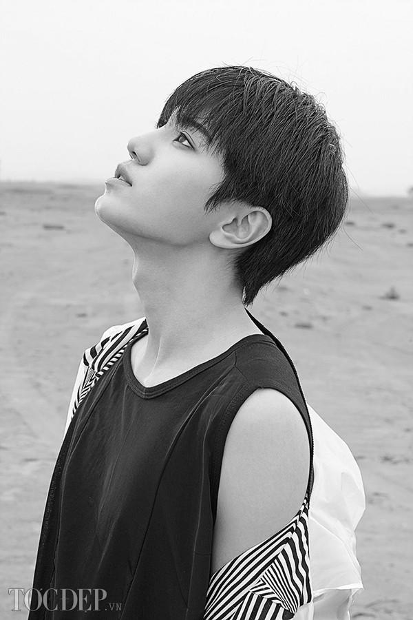 BST 13 kiểu tóc nam mái bằng đẹp nhất sao Hàn Quốc 2017 phần 8