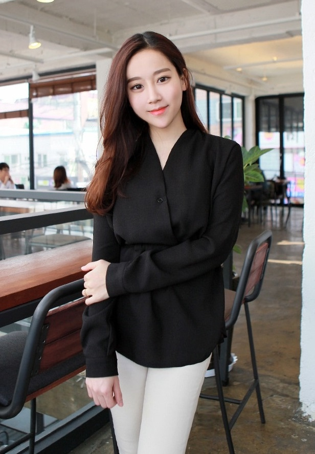 13 mẫu áo sơ mi nữ công sở kiểu hàn quốc đẹp xu hướng thời trang hot 2017 phần 12