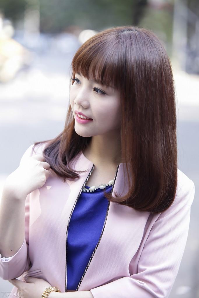 Tóc ngắn ngang vai duỗi cúp phồng đẹp giới trẻ Hàn Quốc yêu thích 2017 phần 9