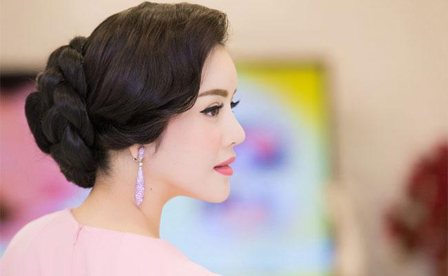 Học cách búi tóc cực đẹp của Lý Nhã Kỳ sang trọng đi dự tiệc phần 7