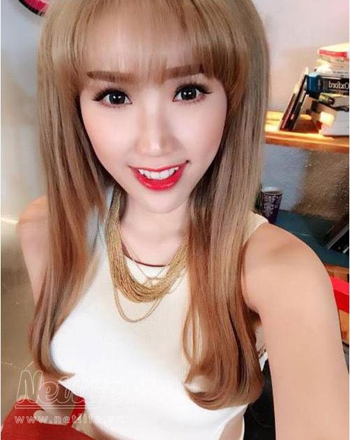 Màu tóc nhuộm đẹp của Bảo Thy quyến rũ sang trọng 2016 phần 3
