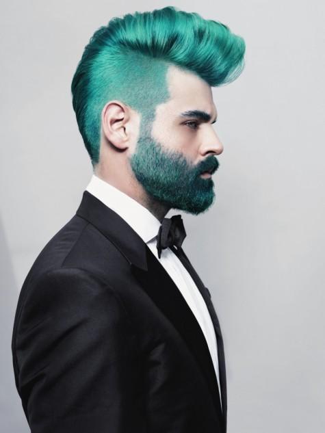 Tóc nam nhuộm màu xanh rêu đẹp cá tính hợp xu hướng 2017 phần 2