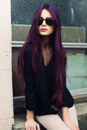 Tóc nhuộm màu đen ánh tím đẹp sành điệu xu hướng 2016 phần 9