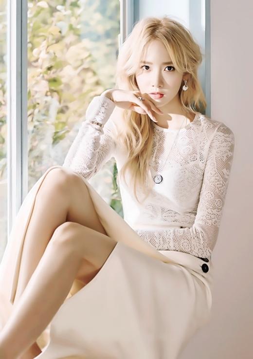 Màu tóc nhuộm vàng bạch kim đẹp của sao Hàn Quốc năm 2017 phần 13