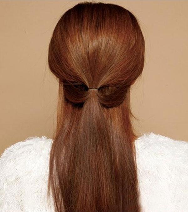 Cột tóc nửa đầu thời trang, đáng yêu