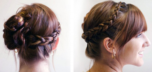 Cách tết tóc búi đẹp đơn giản tại nhà cho bạn gái 2016 phần 15